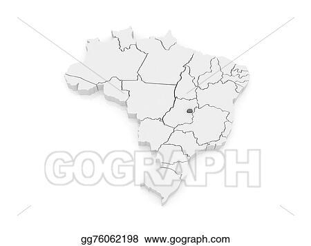 Drawings Map Of Brasilia Brazil Stock Illustration Gg76062198