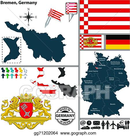 Vector Illustration Map Of Bremen Germany Eps Clipart Gg71202064