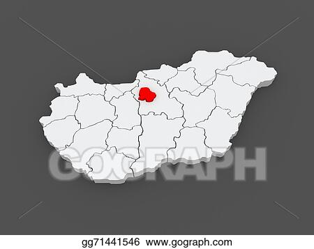 Clipart Map Of Budapest Hungary Stock Illustration Gg71441546