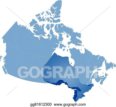 Map Of Canada Eps.Vector Art Map Of Canada Ontario Province Eps Clipart