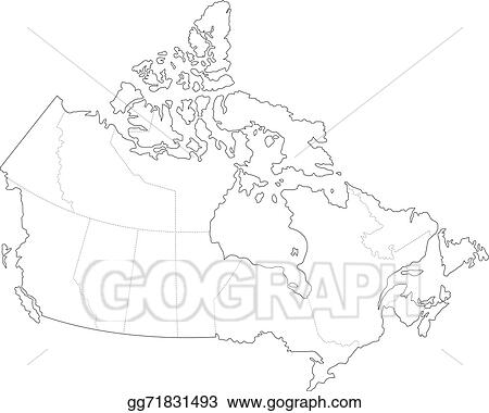 Map Of Canada Simple.Vector Clipart Map Of Canada Vector Illustration Gg71831493 Gograph