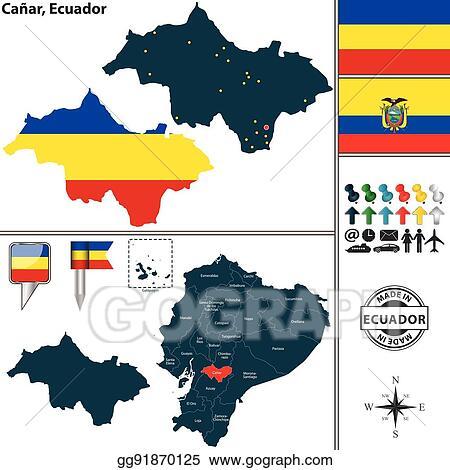 Eps vector map of canar ecuador stock clipart illustration map of canar ecuador publicscrutiny Choice Image