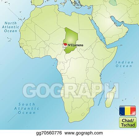 EPS Vector - Map of chad. Stock Clipart Illustration gg70560776 ...