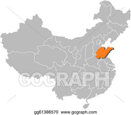 Vector clipart map of china shandong highlighted vector map of china shandong highlighted gumiabroncs Choice Image