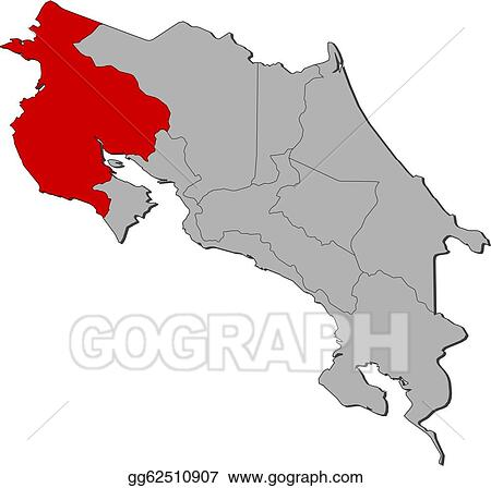 Vector art map of costa rica guanacaste highlighted eps clipart map of costa rica guanacaste highlighted gumiabroncs Images