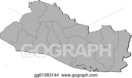 Eps Vector Map Of El Salvador Stock Clipart Illustration