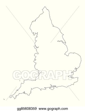 Map Of England Drawing.Vector Illustration Map Of England Eps Clipart Gg85608359 Gograph