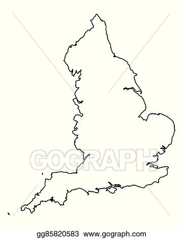 Vector Illustration Map Of England Eps Clipart Gg85820583 Gograph