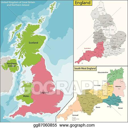 Map Of England 870.Vector Illustration Map Of England Eps Clipart Gg87060855 Gograph
