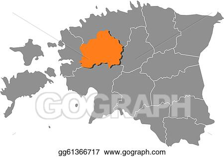 Vector Illustration - Map of estonia, rapla highlighted. EPS ...