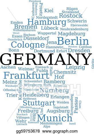 Map Of Germany Memmingen.Vector Stock Map Of Germany Stock Clip Art Gg59753678 Gograph