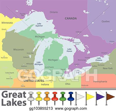 EPS Vector - Map of great lakes. Stock Clipart Illustration ... on map of the great britain, map of rocky mountains states, map of the northwest states, map of the lower 48 states, map of the west coast states, map of the east coast states, map of bahamas states, map of the southern states, map of the mid east states, map of the corn belt states, map of michigan great lakes art, map of great lakes and st. lawrence, map of the four corners states, map of the south atlantic states, map of the midwestern states, map of michigan states, map of the border states, map of the benelux states, great lakes map with states, map of the mountain states,