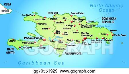 Clip Art Vector Map Of Hispaniola Stock Eps Gg70551929 Gograph