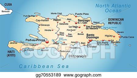 Clip Art Vector Map Of Hispaniola Stock Eps Gg70553189 Gograph