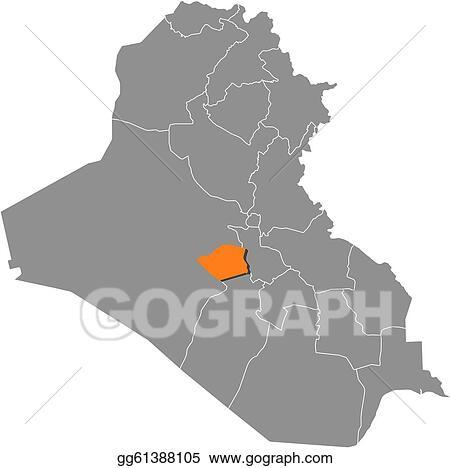 Vector Art - Map of iraq, karbala highlighted. Clipart Drawing ... on dahuk iraq map, us military iraq map, taji iraq map, beirut iraq map, samara iraq map, baquba iraq map, salahuddin iraq map, tel keppe iraq map, al-karmah iraq map, muqdadiyah iraq map, ramallah iraq map, jalawla iraq map, sulaimaniya iraq map, isil iraq map, haditha dam iraq map, mesopotamia iraq map, middle east iraq map, habbaniyah iraq map, kufa iraq map, ankawa iraq map,