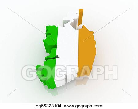 Map Of Ireland 3d.Stock Illustrations Map Of Ireland Stock Clipart Gg65323104 Gograph