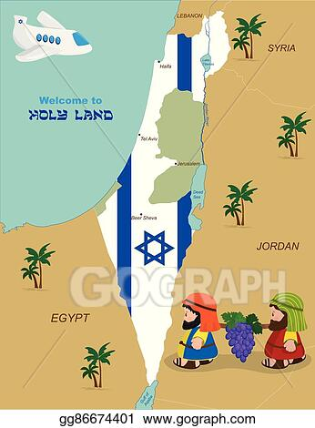 Map Of Israel With Two Spies