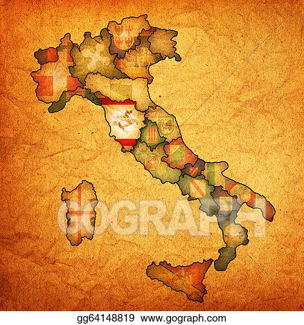 Map Of Italy Tuscany Region.Stock Illustration Map Of Italy With Tuscany Region Stock Art