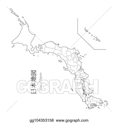 Vector Art - Map of japan, a blank map, an outline map. EPS ...