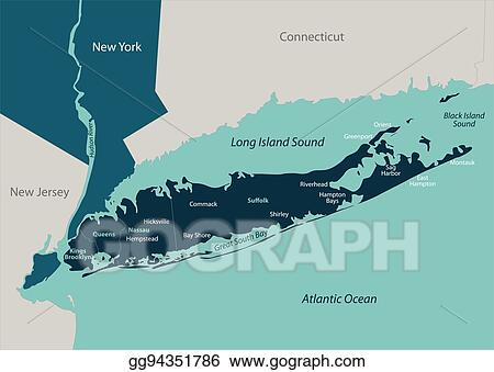 Vector Stock Map Of Long Island Clipart Illustration Gg94351786 - Long-island-on-us-map