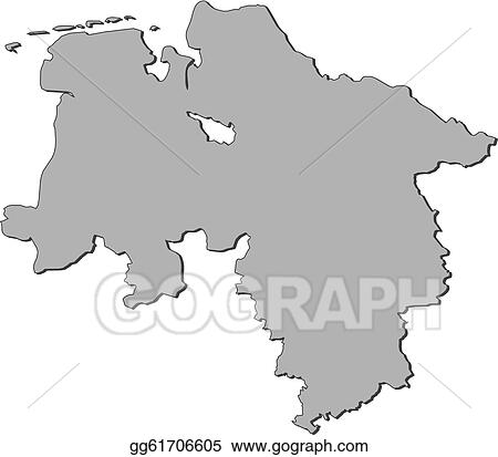 Lower Saxony Germany Map.Clip Art Vector Map Of Lower Saxony Germany Stock Eps