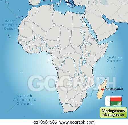 Vector Illustration - Map of madagascar. Stock Clip Art gg70561585 ...