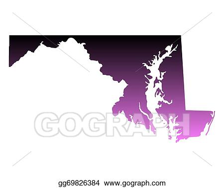 Vector Illustration - Map of maryland. Stock Clip Art ... on graffiti of maryland, layout of maryland, landscape of maryland, graph of maryland, icons of maryland, clipart of maryland, food of maryland, drawing of maryland, cartoon of maryland,