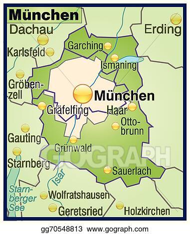 Vector Art - Map of munich. EPS clipart gg70548813 - GoGraph
