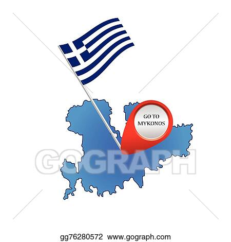 eps vector map of mykonos greece color vector stock clipart rh gograph com greece map clipart black and white Ancient Greece Map Worksheet
