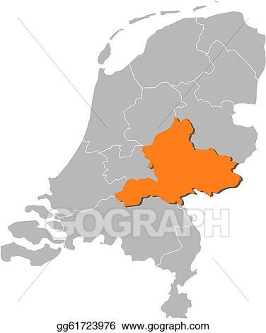 Vector Art - Map of netherlands, gelderland highlighted. EPS ...