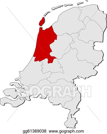 Niederlande Karte Umriss.Vector Illustration Map Of Netherlands North Holland Highlighted