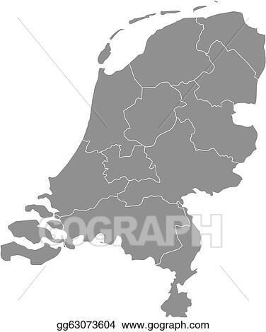 Niederlande Karte Umriss.Vector Clipart Map Of Netherlands Vector Illustration Gg63073604