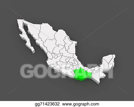 Guajaca Mexico Map.Stock Illustration Map Of Oaxaca Mexico Clipart Illustrations