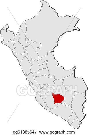 Peru Karte Umriss.Vector Art Map Of Peru Apurimac Highlighted Eps Clipart
