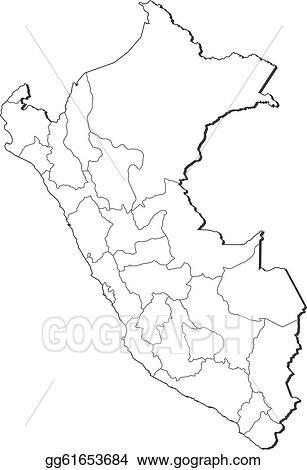 Peru Karte Umriss.Vector Art Map Of Peru Eps Clipart Gg61653684 Gograph
