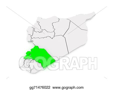 Stock Illustration - Map of reef damascus. syria. Clip Art ...