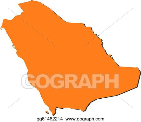 Vector Art - Map of saudi arabia. Clipart Drawing gg61462214 - GoGraph