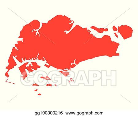 Vector Illustration - Map of singapore. EPS Clipart gg100300216 ...
