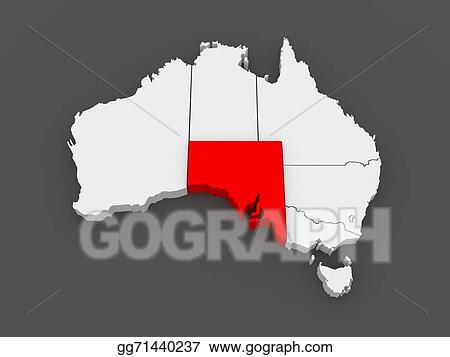 3d Map Of South Australia.Drawing Map Of South Australia Australia Clipart Drawing
