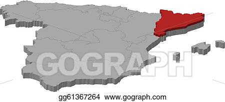 Catalonia Map on
