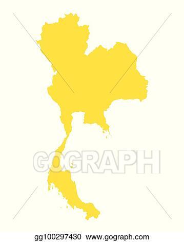 Clip Art Vector - Map of thailand. Stock EPS gg100297430 - GoGraph