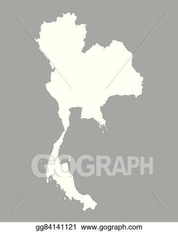 Clip Art Vector - Map of thailand. Stock EPS gg84141121 - GoGraph