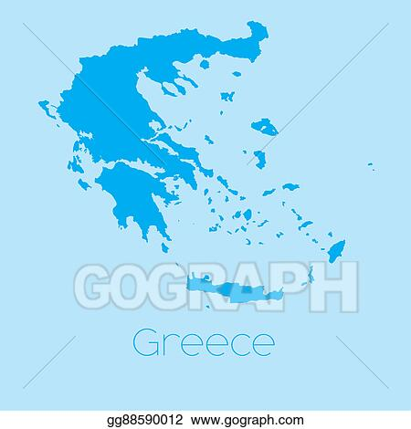 Country Of Greece Map.Stock Illustration Map Of The Country Of Greece Clipart Drawing