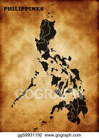 Stock Illustration  Map of the philippines Stock Art