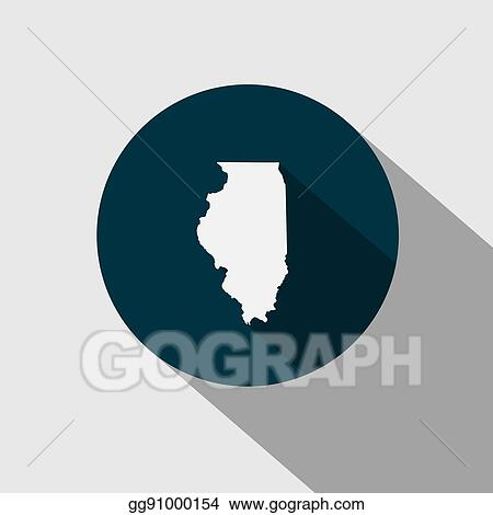 Vector Art Map Of The U S State Illinois Eps Clipart Gg91000154 - Illinois-on-a-map-of-the-us