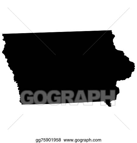 s in iowa map Vector Art Map Of The U S State Of Iowa Eps Clipart s in iowa map