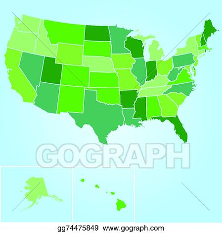 Map Of America Clipart.Vector Art Map Of The United States Of America Clipart Drawing