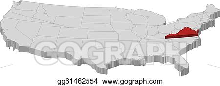 Ideas Map Of The United States Virginia On Emergingartspdxcom - Us map virginia