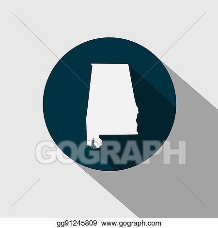 vector art map of the u s state of alabama eps clipart gg91245809