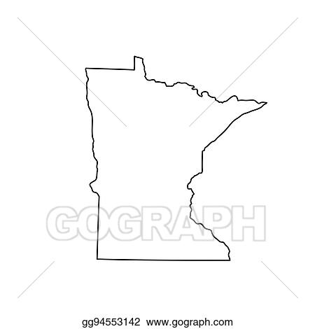 Clip Art Vector Map Of The U S State Minnesota Stock Eps